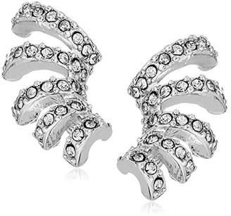 Laundry by Shelli Segal Pave Crystal Multi-Hoop Huggie Grey Stud Earrings