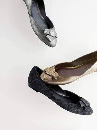 Talbots Collection leather bow flats