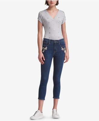 DKNY Embellished Skinny Jeans