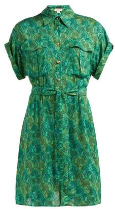 Chufy - Tarabel Tie Waist Shirt Dress - Womens - Green