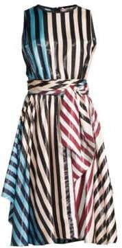 Diane von Furstenberg Striped Silk Dress