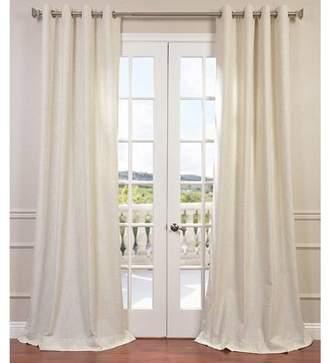 Laurèl Foundry Modern Farmhouse Madison Solid Faux Linen Grommet Single Curtain Panel