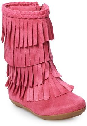 Jumping Beans Pecan Toddler Girls' Fringe Boots