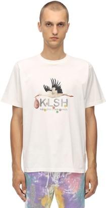 Klsh Kids Love Stain Hands PRINTED COTTON JERSEY T-SHIRT