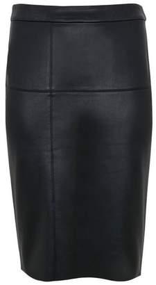 Evans Black Faux Leather Pencil Skirt