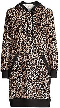 MICHAEL Michael Kors Women's Mega Cheetah-Print Hoodie Dress