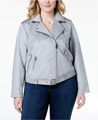 Levi's Plus Size Faux-Suede Belted Moto Jacket