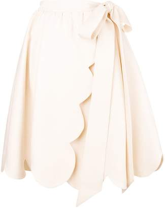 Valentino scalloped wrap skirt
