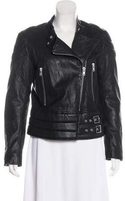 American Retro Leather Moto Jacket