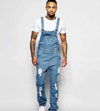 N. Liquor Poker Overalls Straight Fit Extreme Rips Stonewash