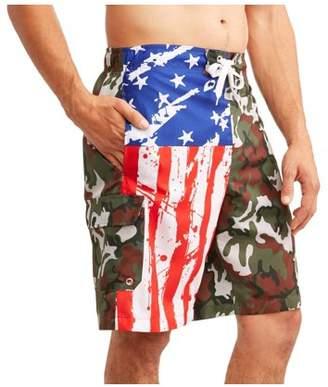 Trunks Generic Big Men's Camo American Flag E-board swim short
