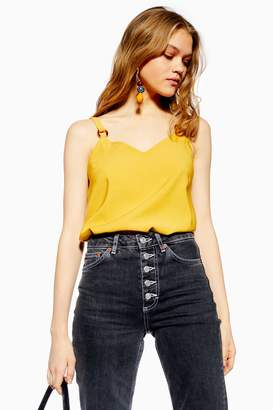 Topshop Womens Ring Camisole Top - Mustard