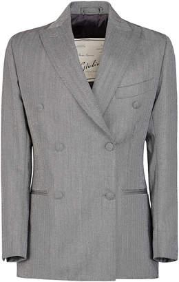 Cornelia Giuliva Heritage Collection Double-Breasted Herringbone Wool Blazer