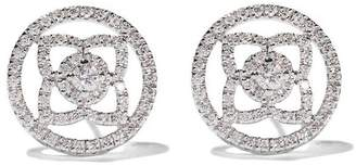 De Beers 18kt white gold Enchanted Lotus openwork diamond stud earrings