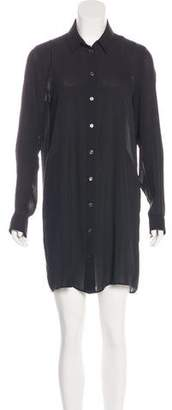 Acne Studios Button-Up Collared Dress