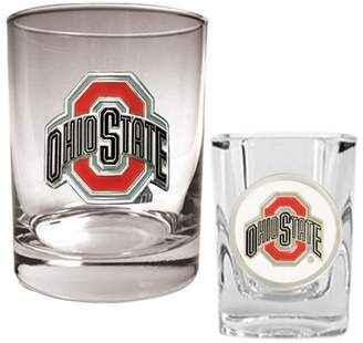NCAA Kohl's Ohio State Buckeyes 2-pc. Rocks and Shot Glass Set