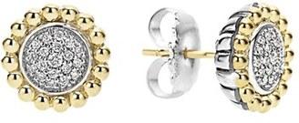 Women's Lagos Diamond Caviar Stud Earrings $650 thestylecure.com