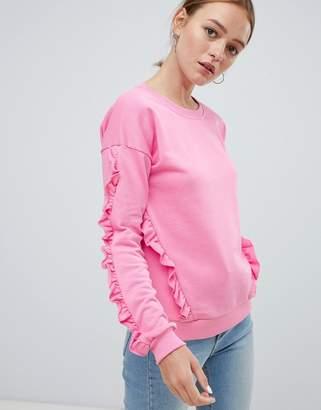 Ichi ruffle sleeve sweater