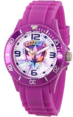 Marvel Guardians of the Galaxy Unisex Black Plastic Watch, Purple Bezel, Purple Plastic Strap