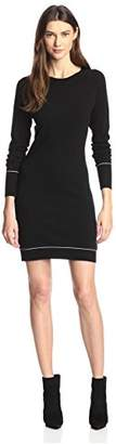 James & Erin Women's Contrast Stitch Sweater Dress