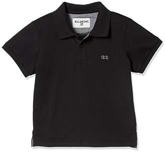 Billabong (ビラボン) - [ビラボン] [キッズ] 半袖 ポロシャツ (吸湿 速乾) AI015-170 / SS POLO/子供服 BLK_ブラック US 140 (日本サイズ140 相当)