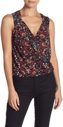BCBGeneration Printed Surplice Top