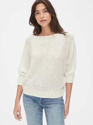 Gap Textured Boatneck Pullover Sweater