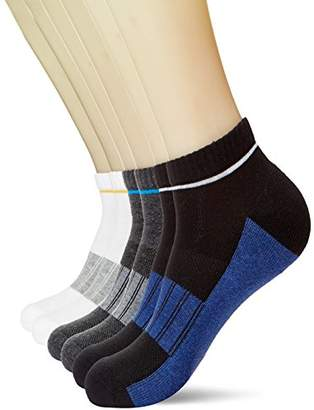 KOSY KOMFORT Mens Cotton 6-Pack Low Cut Ankle Socks Athletic Sports Socks FIT 6-10