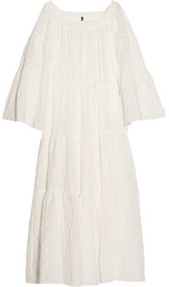 Lisa Marie Fernandez - Cotton-blend Voile Maxi Dress - White $790 thestylecure.com