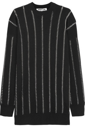 McQ Alexander McQueen - Chain-embellished Wool Sweater - Black $575 thestylecure.com
