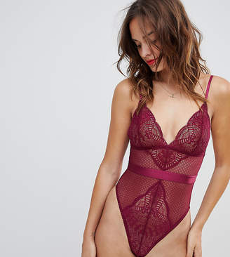 Wolfwhistle Wolf & Whistle Burgundy Lace Mix Body