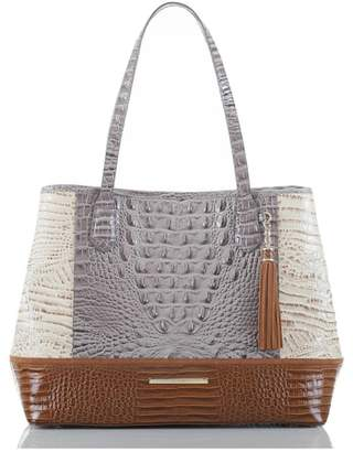 Brahmin Medium Julian Croc Embossed Leather Tote