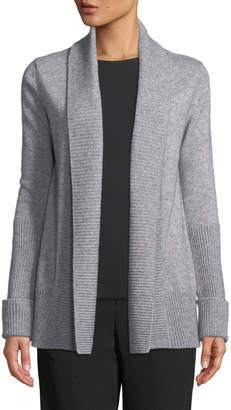 Vince Wide-Collar Open-Front Wool-Cashmere Cardigan