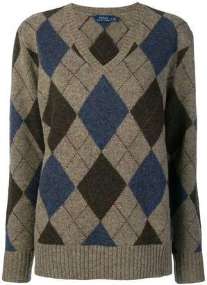 Polo Ralph Lauren V-neck argyle sweater