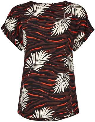 Dorothy Perkins Womens **Tall Brown Tiger Palm Print T