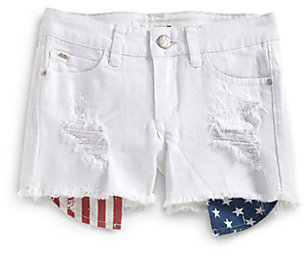 Joe's Jeans Girl's Flag-Printed Pocket Denim Shorts