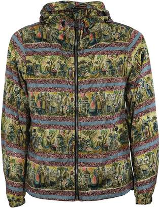 Burberry Printed Lightweight Technical Hooded Jacket