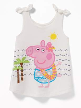 Old Navy Peppa Pig Bow-Tie Shoulder Tank for Toddler Girls