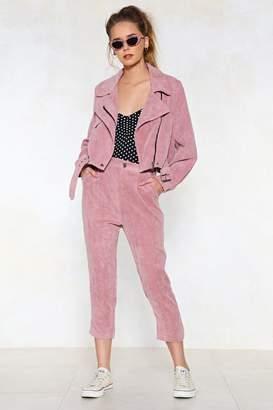 Nasty Gal Pink Before You Act Corduroy Pants