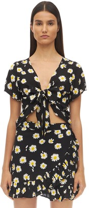Victoria's Secret The People ROMEE PRINTED RAYON TIE TOP