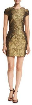 Diane von Furstenberg Hadlie Two Metallic Mini Dress $428 thestylecure.com