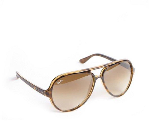 Ray-Ban brown tortoise print acrylic 'Cats 5000' aviator sunglasses