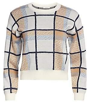 Joie Women's Austine Plaid Crewneck Sweater