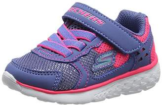 Skechers Girls' Go Run 400-Sparkle Sprinters Trainers, (Blue/Neon Pink), 22 EU