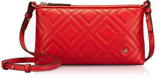 Tory Burch Fleming Exotic Red Quilted Leather Chain Crossbody Bag