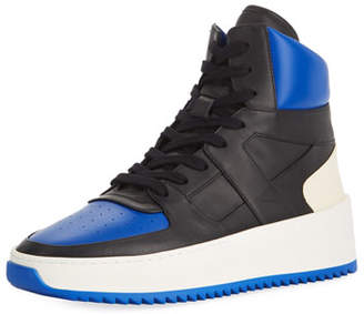 Fear Of God Men's Two-Tone Leather High-Top Basketball Sneakers, Black/Blue