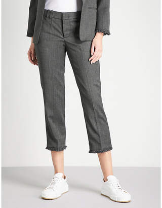 Zadig & Voltaire Posh cropped high-rise woven straight-leg trousers