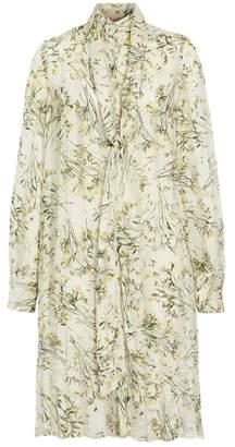 Burberry Floral Print Organza Tie