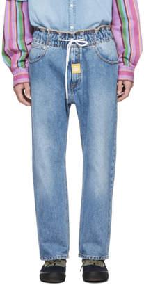 MSGM Blue Drawstring Jeans
