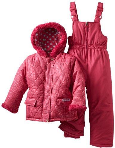 Pink Platinum Girls Toddler Sparkle Puffer Snowsuit